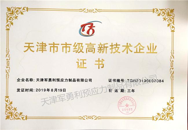 高新技术证书1